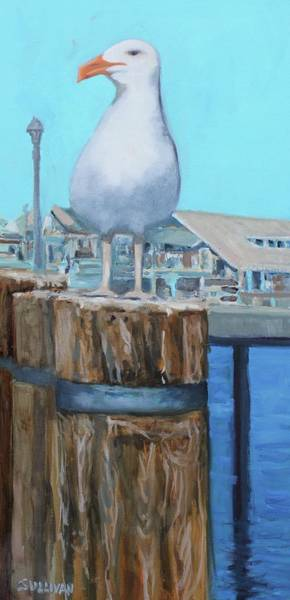 Painting - White Gull by Dennis Sullivan