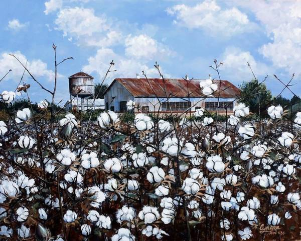 Cotton Painting - White Harvest by Cynara Shelton