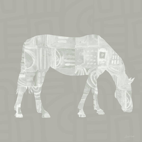 Neutral Wall Art - Painting - White Horse 2- Art By Linda Woods by Linda Woods