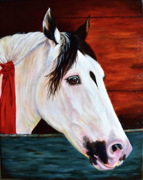 Wall Art - Painting - White Horse by Aixa Renta-DeLuca
