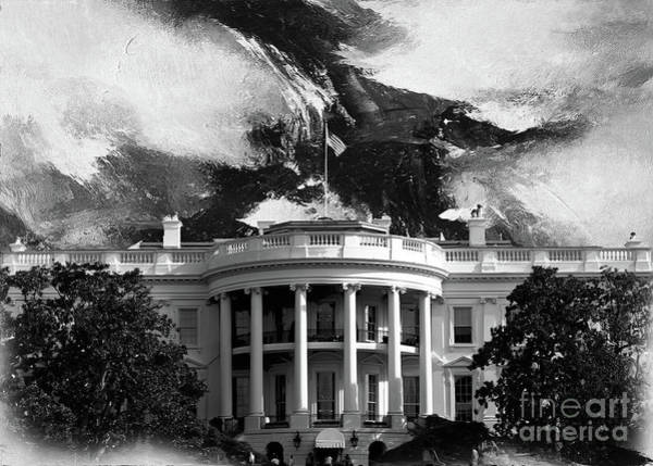 Washington D.c Painting - White House 002 by Gull G