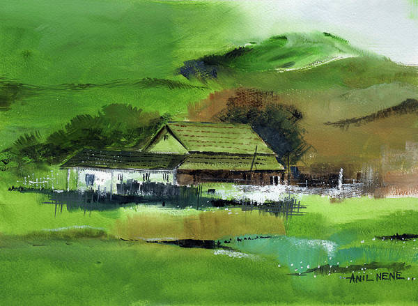 Painting - White House 5 by Anil Nene