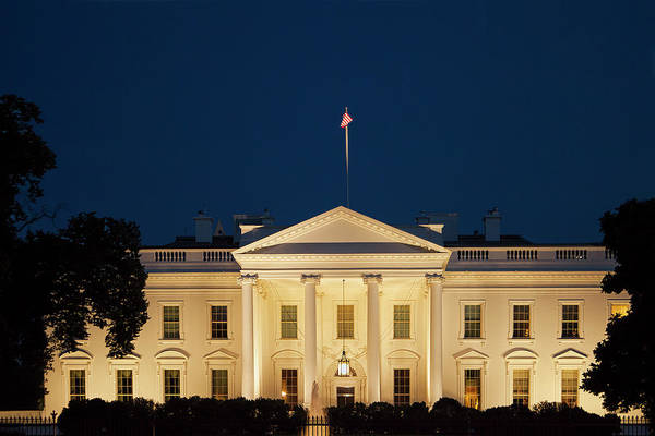 White House Photograph - White House At Twilight by Andrew Soundarajan
