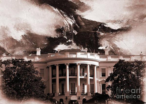 Washington D.c Painting - White House Washington Dc by Gull G