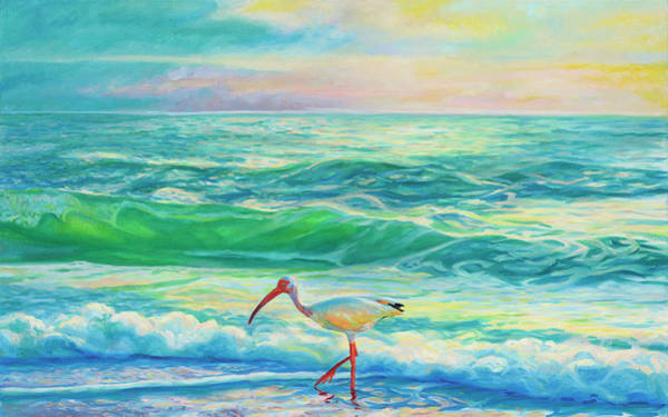 Painting - White Ibis by Rachel Ramm Woodward