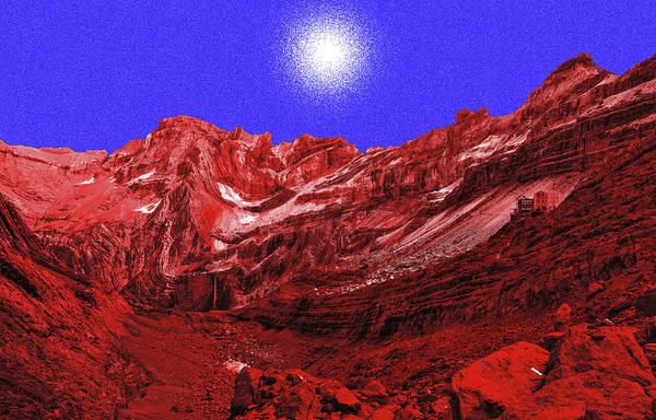 White Light Above Marbore Art Print
