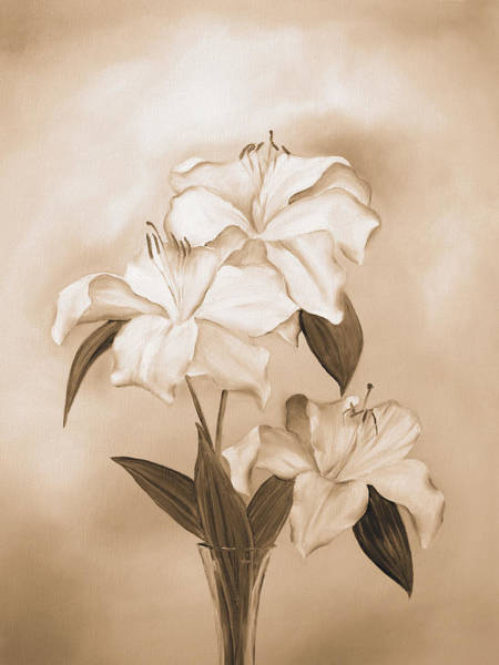 Painting - White Lilies by Elizabeth Lock