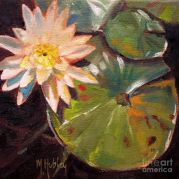 Wall Art - Painting - White Lily Water Flower Nature Pond by Mary Hubley