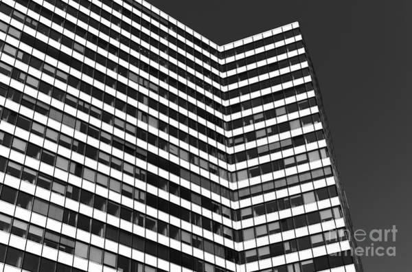 Photograph - White Lines In Hamburg Mono by John Rizzuto