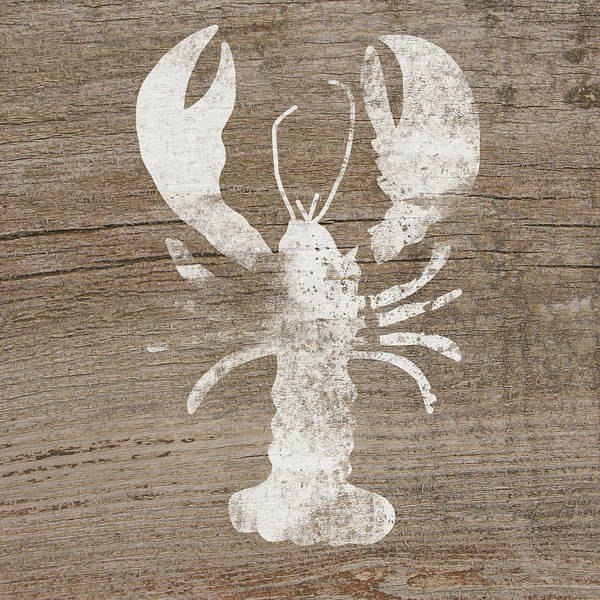 Forests Mixed Media - White Lobster On Wood- Art By Linda Woods by Linda Woods