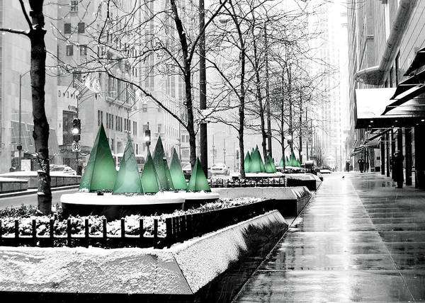 Photograph - White Mag Mile Christmas by Laura Kinker