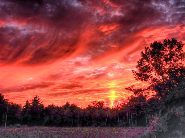 Photograph - White Mountain Sunset by Don Mercer