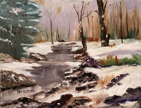 Painting - White Mountains Creek by Larry Hamilton
