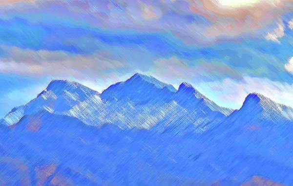 Digital Art - White Mt Rainbow by Carl Deaville