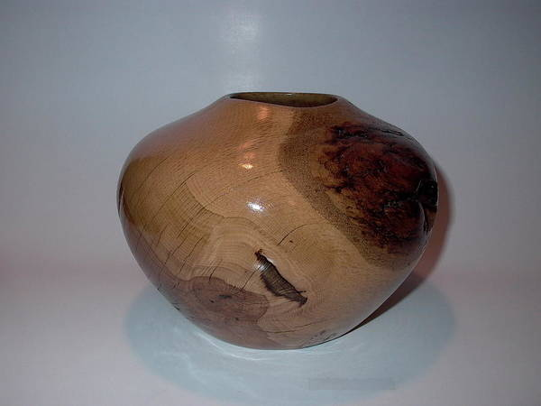 Wall Art - Sculpture - White Oak Vessel by Shawn Roberts