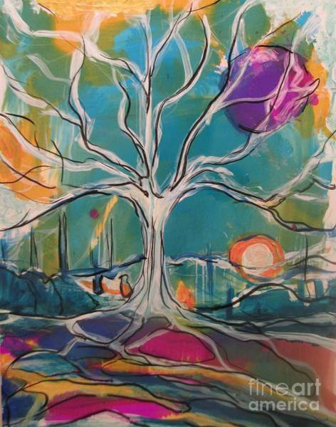 Painting - White Oak Waiting by Jacqui Hawk