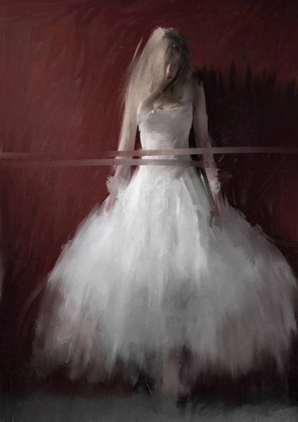 Wall Art - Painting - White On Red by H James Hoff