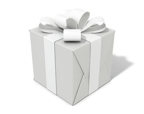 Wall Art - Digital Art - White On White Cube Gift by Allan Swart