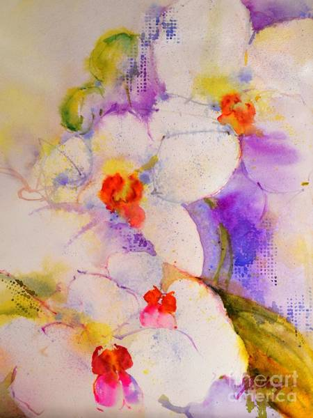 Painting -  White Orchids by Betty M M Wong