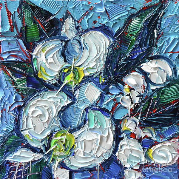 Post Modern Painting - White Orchids  by Mona Edulesco