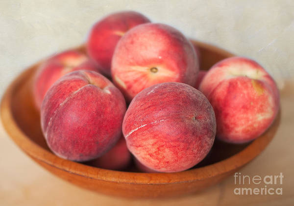 Photograph - White Peaches by Ann Jacobson