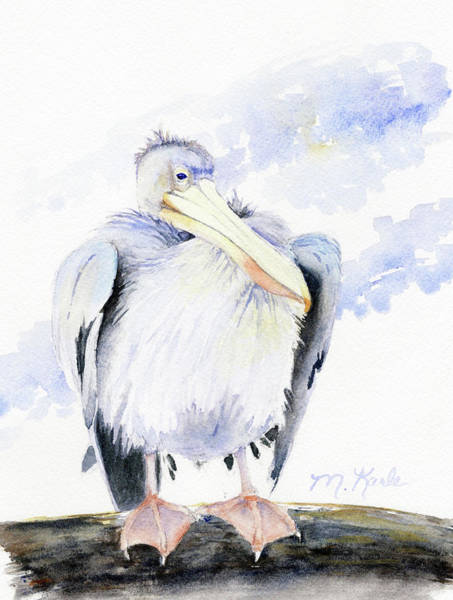 Painting - White Pelican by Marsha Karle