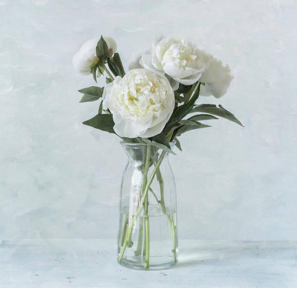 Photograph - White Peony Bouquet by Kim Hojnacki
