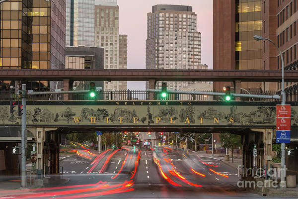 Photograph - White Plains Traffic Light Trails IIi by Clarence Holmes