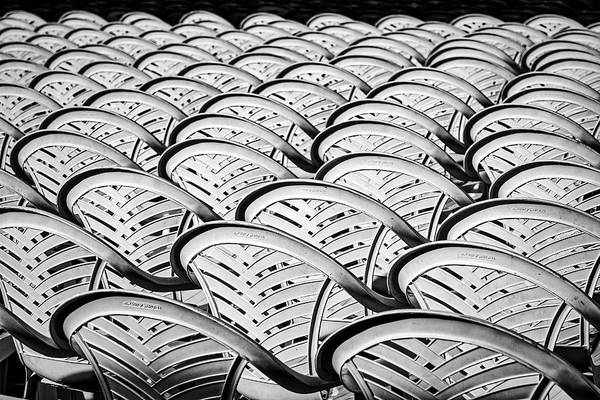 Photograph - White Plastic Chairs by Stuart Litoff