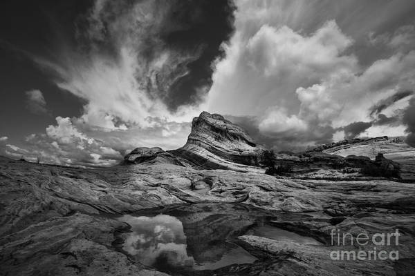 Photograph - White Pocket - Black And White by Keith Kapple