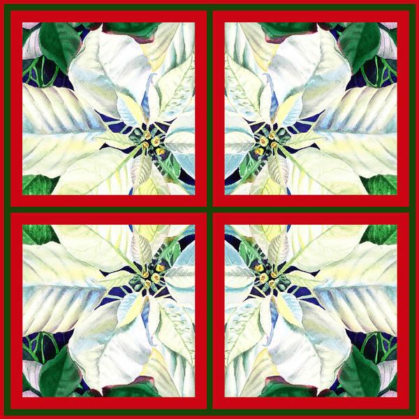 Painting - White Poinsettia Quartet by Irina Sztukowski