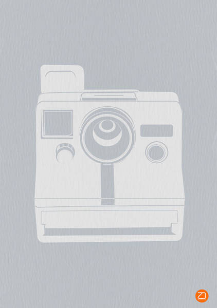 Camera Wall Art - Photograph - White Polaroid Camera by Naxart Studio
