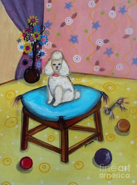 Painting - White Poodle by Pristine Cartera Turkus