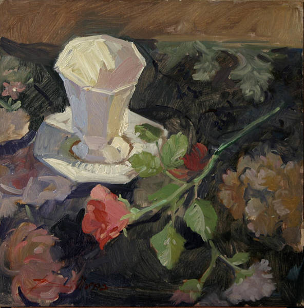 Painting - White Porcelain And Roses by Betty Jean Billups