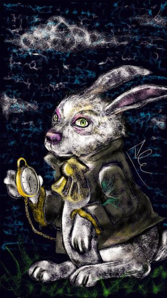 Drawing - White Rabbit by Alessandro Della Pietra