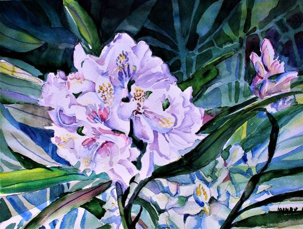 Wall Art - Painting - White Rhododendron by Mindy Newman