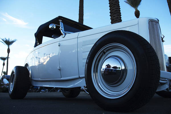 Photograph - White Roadster by Richard Henne