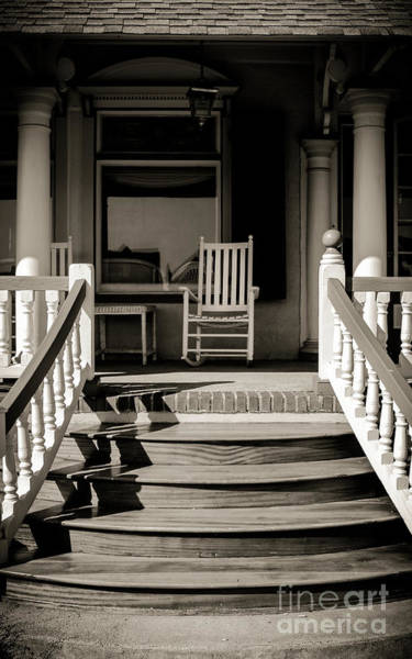 Wall Art - Photograph - White Rocking Chair by Colleen Kammerer