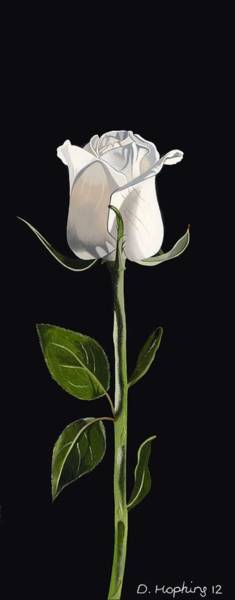 Smell Painting - White Rose by Darrell Hopkins