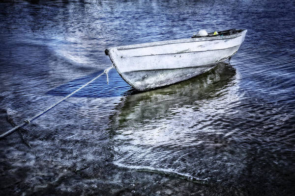 Photograph - White Rowboat by Debra and Dave Vanderlaan