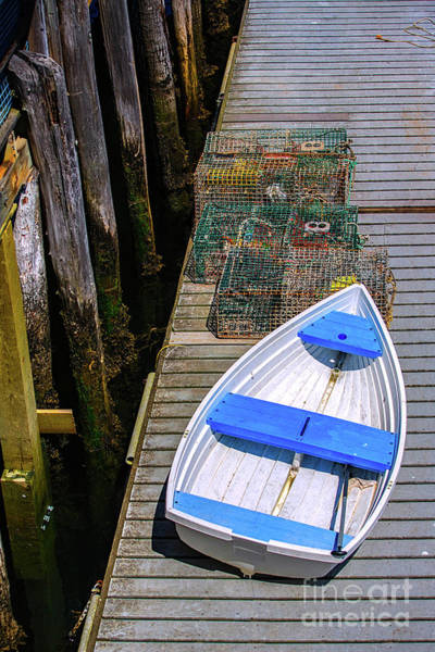 Wall Art - Photograph - White Rowboat by Diane Diederich