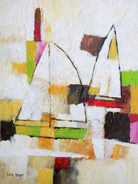 Painting - White Sails by Lutz Baar