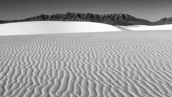 White Sand Photograph - White Sands And San Andres Mountains by Joseph Smith