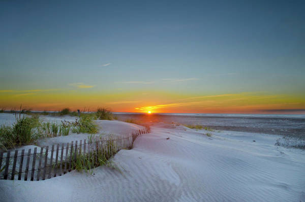 Photograph - White Sands At Sunrise - Wildwood Crest New Jersey by Bill Cannon