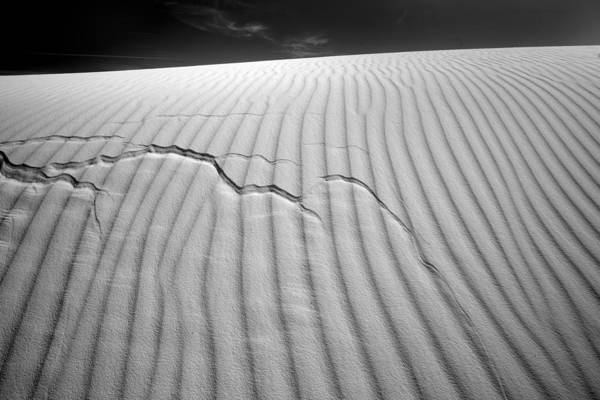 Photograph - White Sands Cracked by Peter Tellone