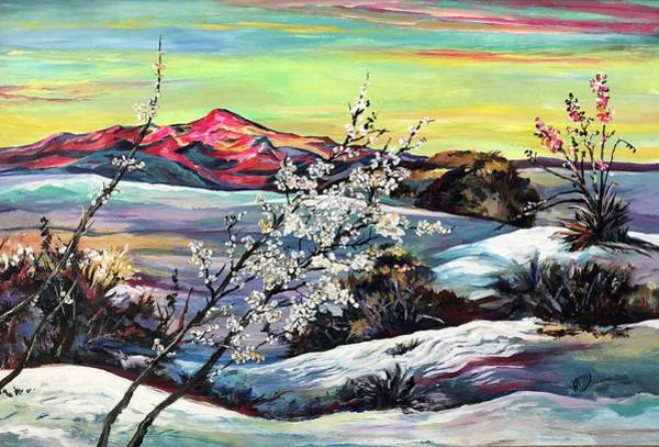 Wall Art - Painting - White Sands Morning by Kathy Hauge