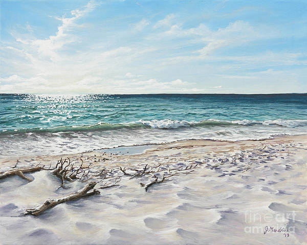 Florida Beach Painting - White Sands Of Tiger Tail by Joe Mandrick