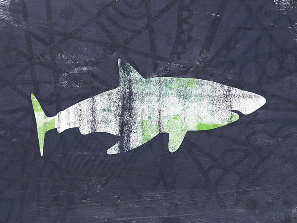 Wall Art - Painting - White Shark- Art By Linda Woods by Linda Woods