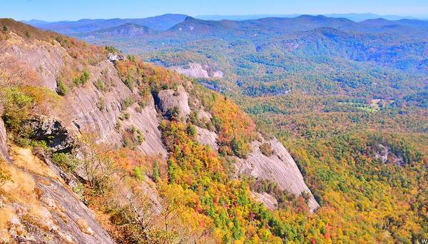 Photograph - White Side Mountain Fool's Rock In Autumn by Lisa Wooten
