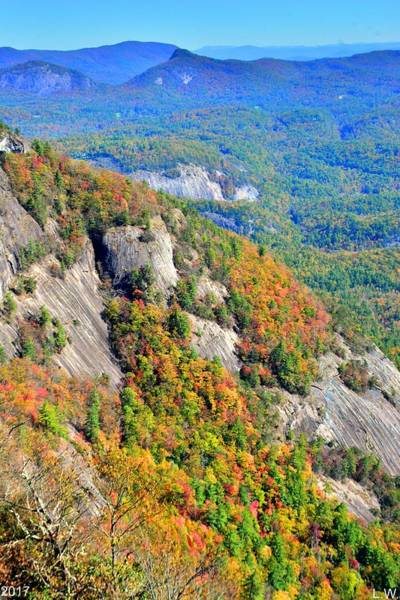 Photograph - White Side Mountain Fool's Rock In Autumn Vertical by Lisa Wooten